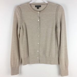 Banana Republic Merino Wool Cardigan Heather Color